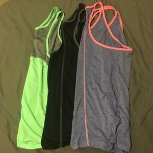 Tops - Lot of THREE workout tops GUC racerback